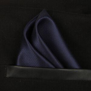 (t13) Navy Blue Men Silk Formal Pocket Square Hanky Wedding Party Handkerchief SchnäPpchenverkauf Zum Jahresende