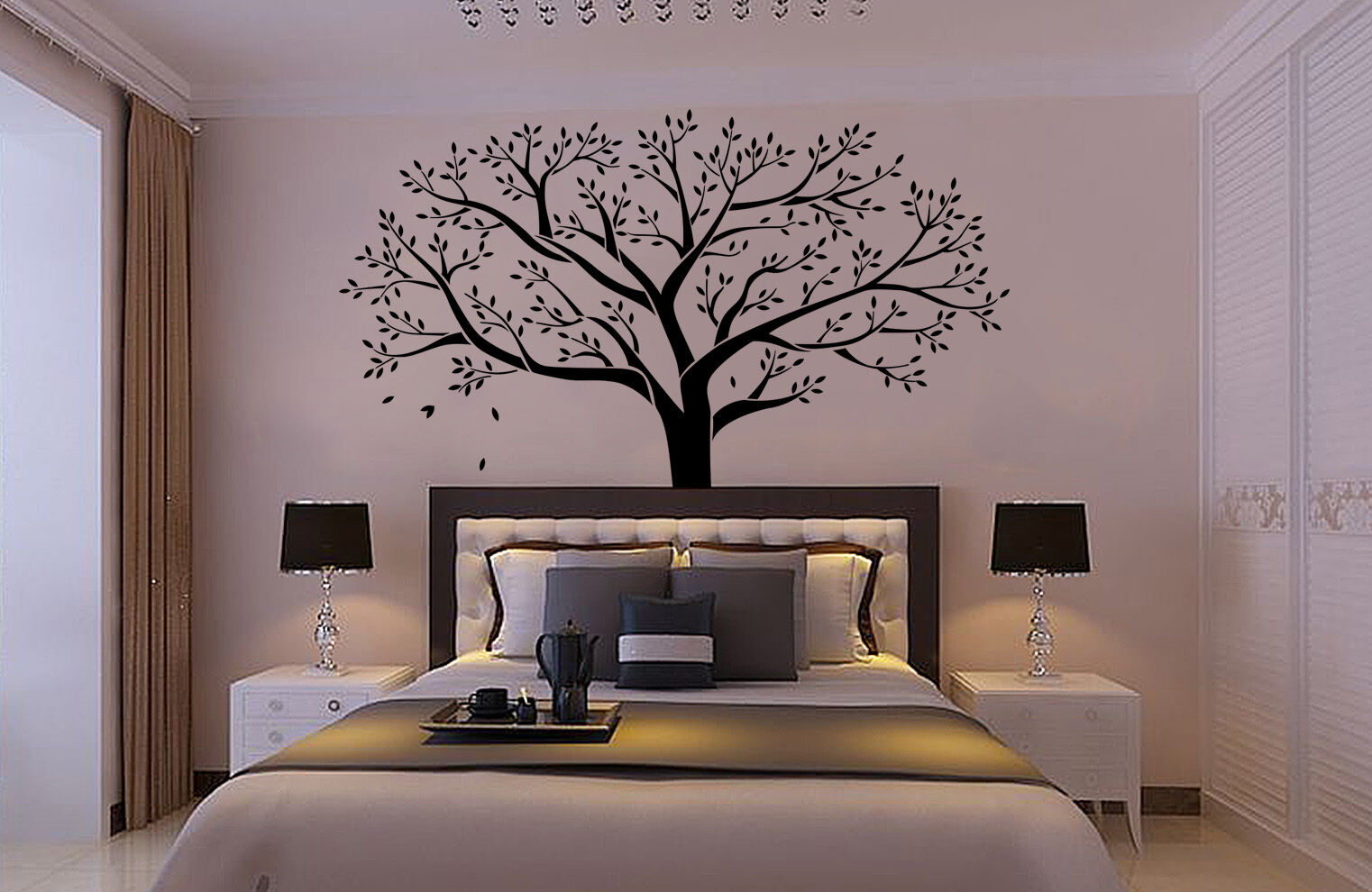 Enorme famiglia Tree Muro Adesivo Vinile Arte Decalcomanie casa stanza Decor UK sh58