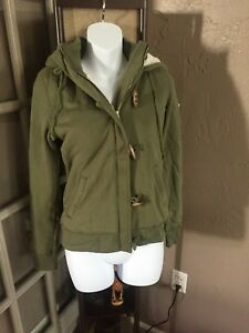 b940ce1ab396 NEW RARE ! Womens S Hollister Jacket Outerwear Coat Sweater ARMY ...