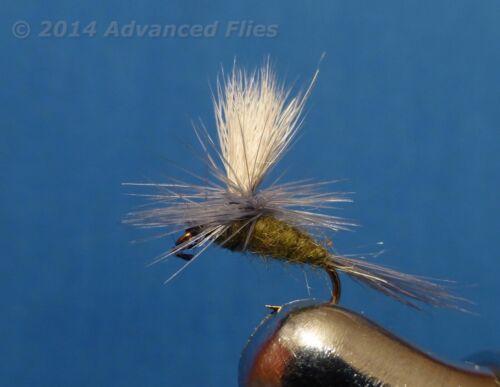 1 dozen BWO Blue Wing Olive Parachute #14 #16 #18 #20 #24 Fly Fishing Flies