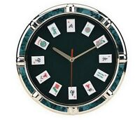 11 Game Theme Mah Jong Wall Clock With Mah Jong Tile Markers