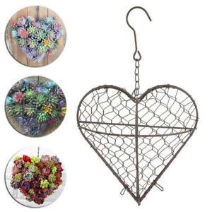 Hanging-Planters-Heart-Shape-Flower-Pots-Iron-Wall-Succulent-Plants-Basket-Decor