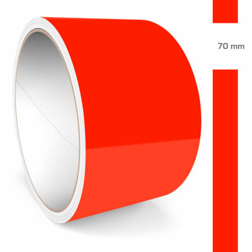 Adhesive 70 MM 10 km Neon Rouge Fluorescent Brillant RAL 3026 Brillant Voiture