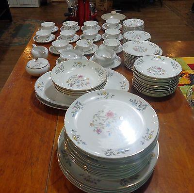 93pcs Vintage Flair Fine China Blossom Time #8145 dishes dish set service  12