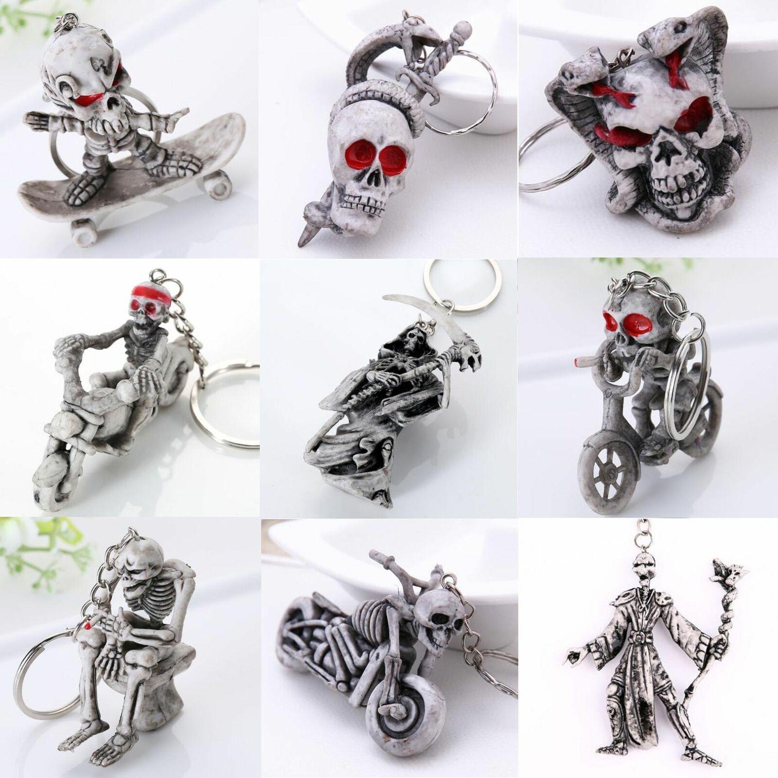 1 Paire Zombie Crâne Keychains morts-vivants Snare Effrayant Porte-clefs Fashion Cartoon Accesso