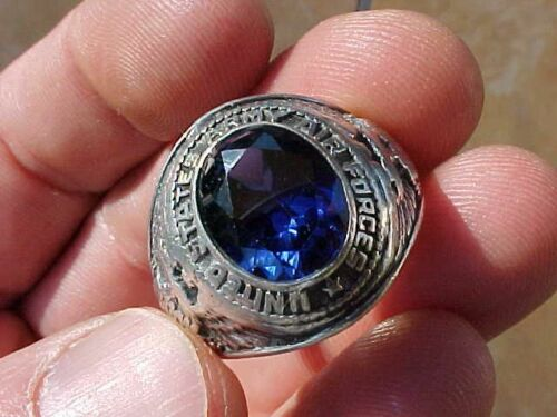 ORIGINAL WWII USAAF OCS STERLING 1943 CLASS GRADUATION RING