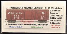 Funaro F&C 8133 VIRGINIAN VGN BX-10 Wood Side Single Sheathed Boxcar AB-Brak 1PC