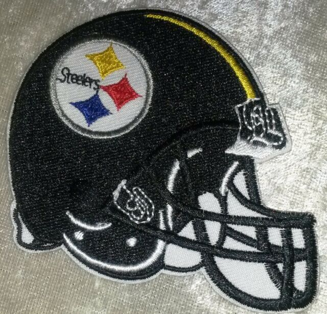 "Pittsburgh Steelers BIG 5"" Iron On Embroidered Patch ~USA Seller~FREE Ship"