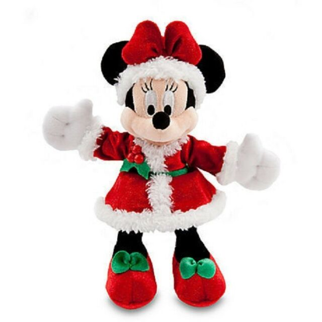 "DISNEY PARKS AUTHENTIC ORIGINAL 7"" HOLIDAY SPARKLE MINNIE MOUSE PLUSH W/GIFT TAG"