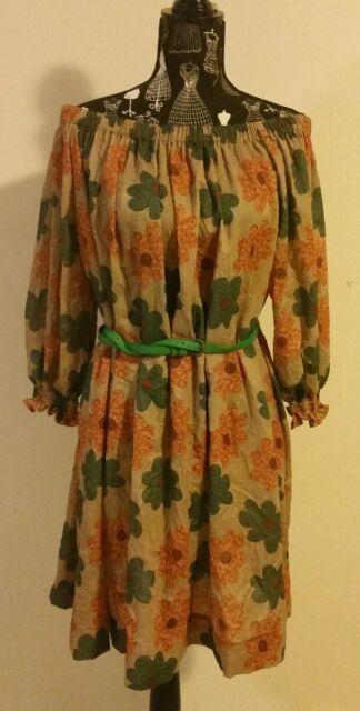 NEW Off shoulder vintage floral tent dress, size 14
