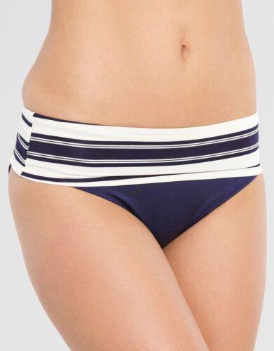 Fantasie Biarritz Piegare Slip Bikini in vita 5736 Blu Navy Nuoto Taglia S Uk 10 NUOVO