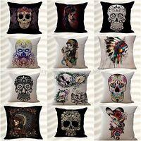 Wholesale 10pcs Calavera Sugar Skull Cushion Cover Replacement Outdoor Furniture