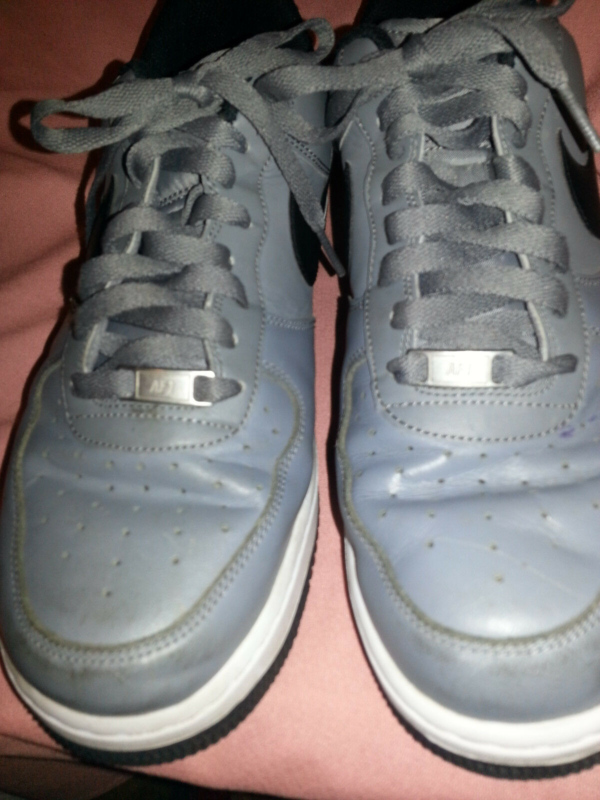Special limited time Nike Air force 1 Gray mans size 10.5