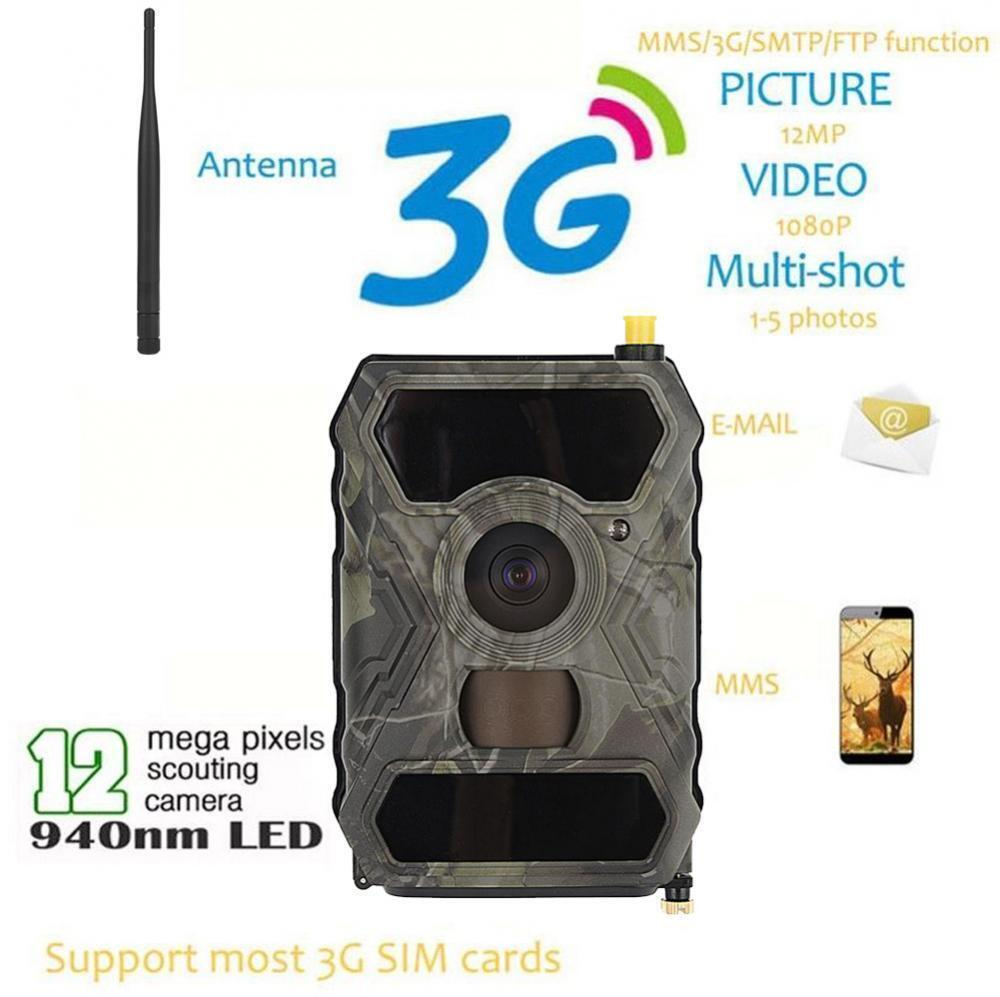 Hunting Camera 12MP 940NM  1080P Scouting Game Trail Cam 3G MMS Wireless S880G SD  happy shopping