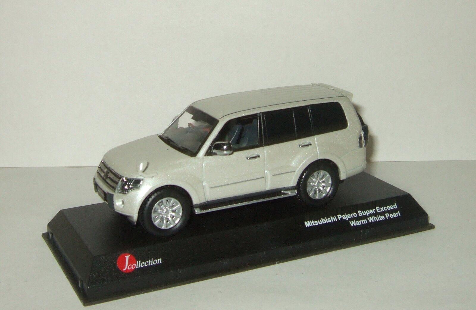 1 43 J-Collection MITSUBISHI PAJERO 4x4 de long Super dépasser Blanc JCP81001WH