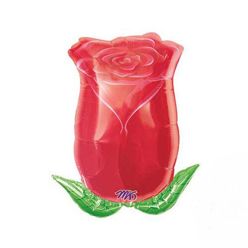 "Huge Red Rose Valentine Valentines Super Shape Foil Helium Balloon 22/""x15/"" M/&D"