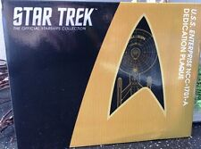 Star Trek Eaglemoss U.S.S. Enterprise NCC-1701-A Widmungsplakette Dedication Pla