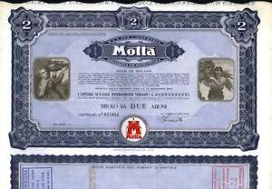 MILANO-ANNI-039-60-039-70-AZIONE-ORIGINALE-MITICA-MOTTA-INDUSTRIA-DOLCIARIA