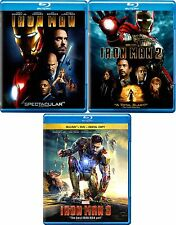 Iron Man Trilogy Blu-ray Set (Part 1, 2 & 3) - MINT Condition - Marvel Avengers