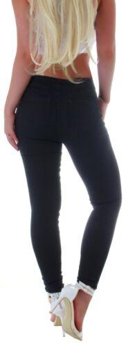Damen Treggings Jeggings Jeans Leggings Stoffhose Hose Röhrenhose Stretch S59