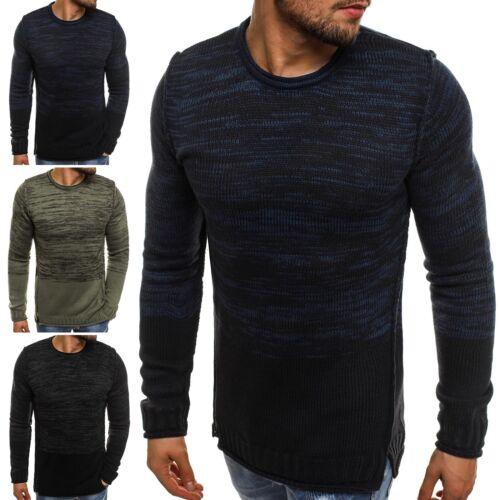 OZONEE Herren Strickjacke Pullover Sweatjacke Sweats Longsleeve BREEZY B9019S