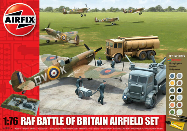 AIRFIX Gift Set A50015 RAF Battle of Britain Airfield Set - 1:76 Scale