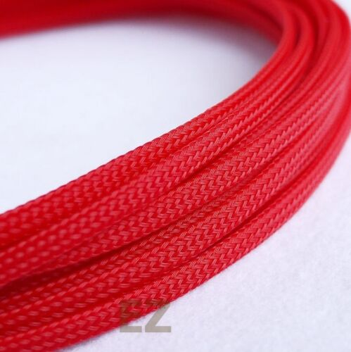 8mm x 5m RED Expandable Braided Cable Sleeving High Density PC RC Modding