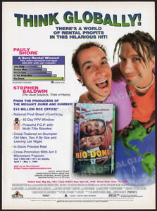 BIO-DOME-Original-1996-Trade-Print-AD-ADVERT-PAULY-SHORE-STEPHEN-BALDWIN