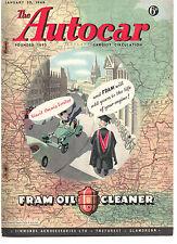 revue automobile: the Autocar: january 30 1948