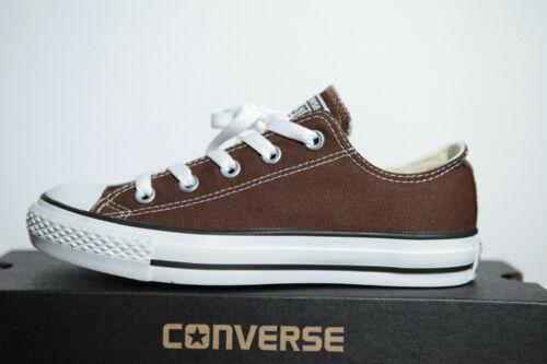 NUOVO All Star Converse Chucks Low Sneaker Ox can Chocolate 1q112 12 13 65