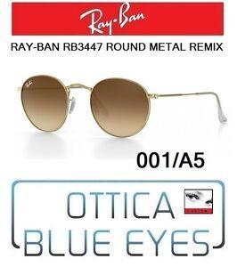 e871a97ddb2b Occhiali da sole RAYBAN RB 3447 ROUND METAL REMIX 001 A5 SUNGLASSES ...