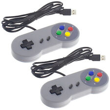 2x Smartfox Super Nintendo SNES Famicom Retro Gamepad Joypad PC Controller USB