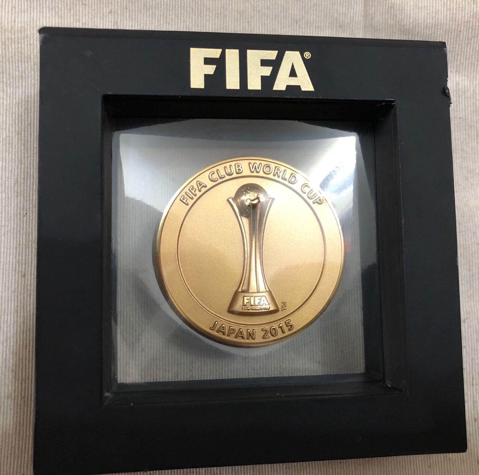 Club de Barcelona Copa del Mundo 2015 Original Medalla Oficial de la FIFA