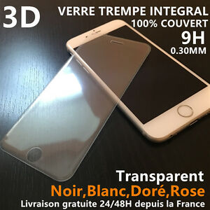 iPhone-6S-6-Plus-7-8-X-VITRE-VERRE-TREMPE-3d-Film-de-protection-ecran-Integral