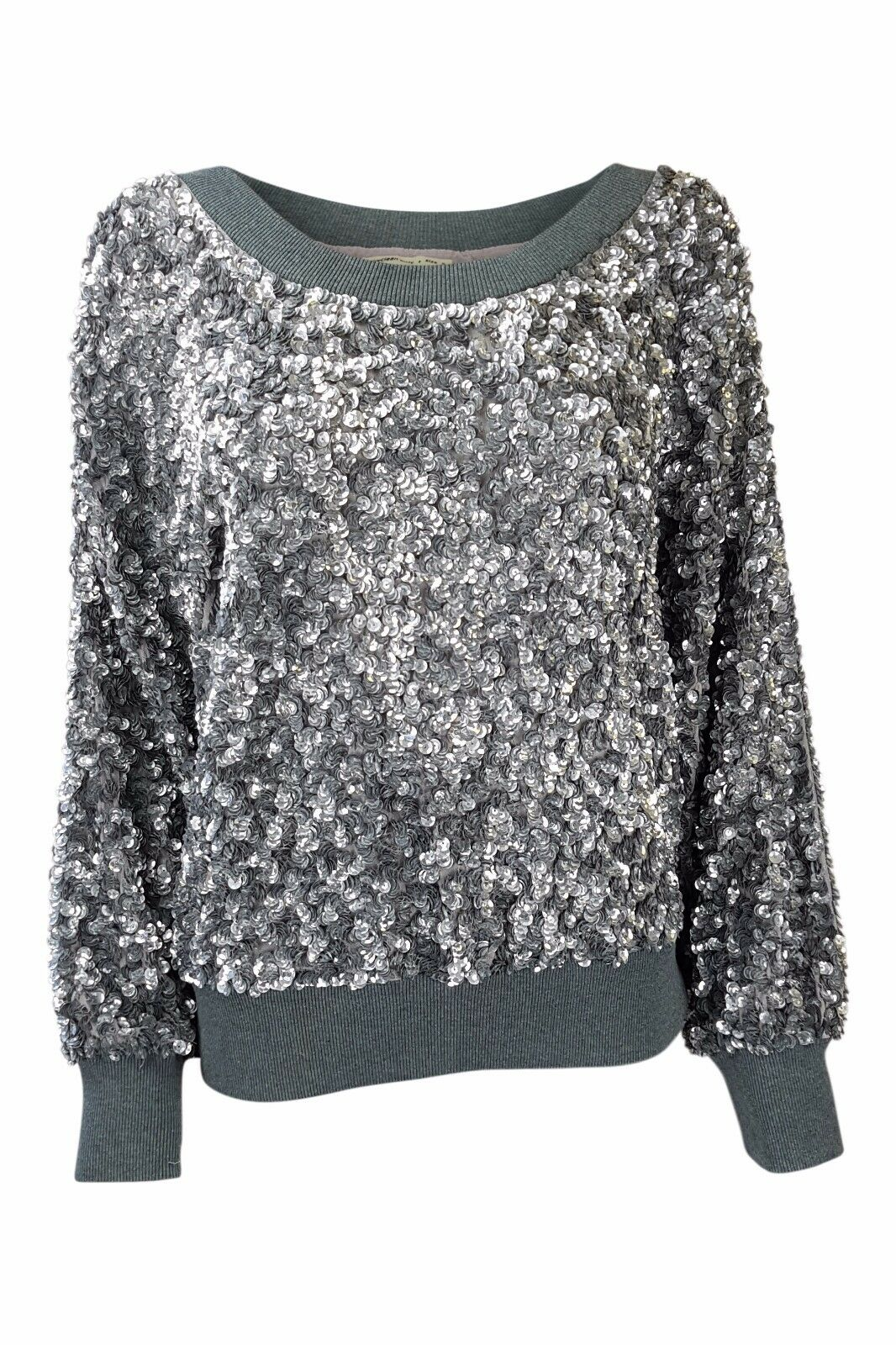 ASHISH grau Sequin Off Shoulder Casual Jumper (S)