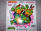 Vintage 1990 Teenage Mutant Ninja Turtles Mello Smello Really Big Stickers TMNT