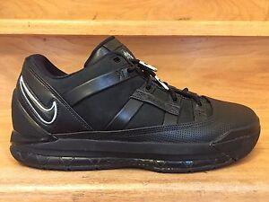 OG 2006 Nike Zoom LeBron 3 Low Black   Ice Blue Size 10 Shoes ... 25242539c