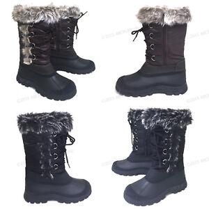 Womens-039-Winter-Boots-Fur-Warm-Insulated-Waterproof-Zipper-Ski-Snow-Shoes-Sizes