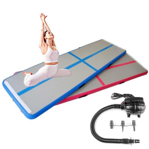Details about  /13ft GYM Airtrack Inflatable Air Track Home Floor Gymnastics Tumbling Mat+Pump