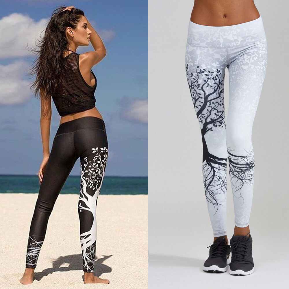 Women Autumn Winter Long Pants Leggings Sports Yoga Workout Gym Fitness Pants