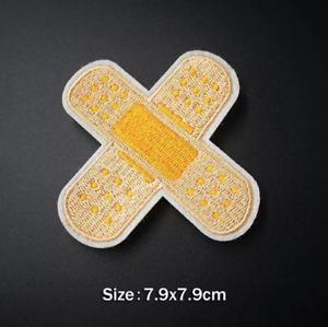 Plaster Friends Funny Iron on Embroidery Cloth Patch Sew on Badge Clothes