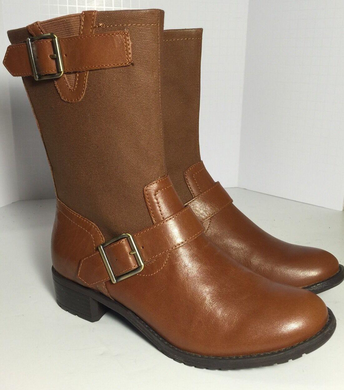 NEU Puppies LOLA Chamber Tan Leder Ankle Stiefel Größe 5.5 EU 36.5 Waterproof