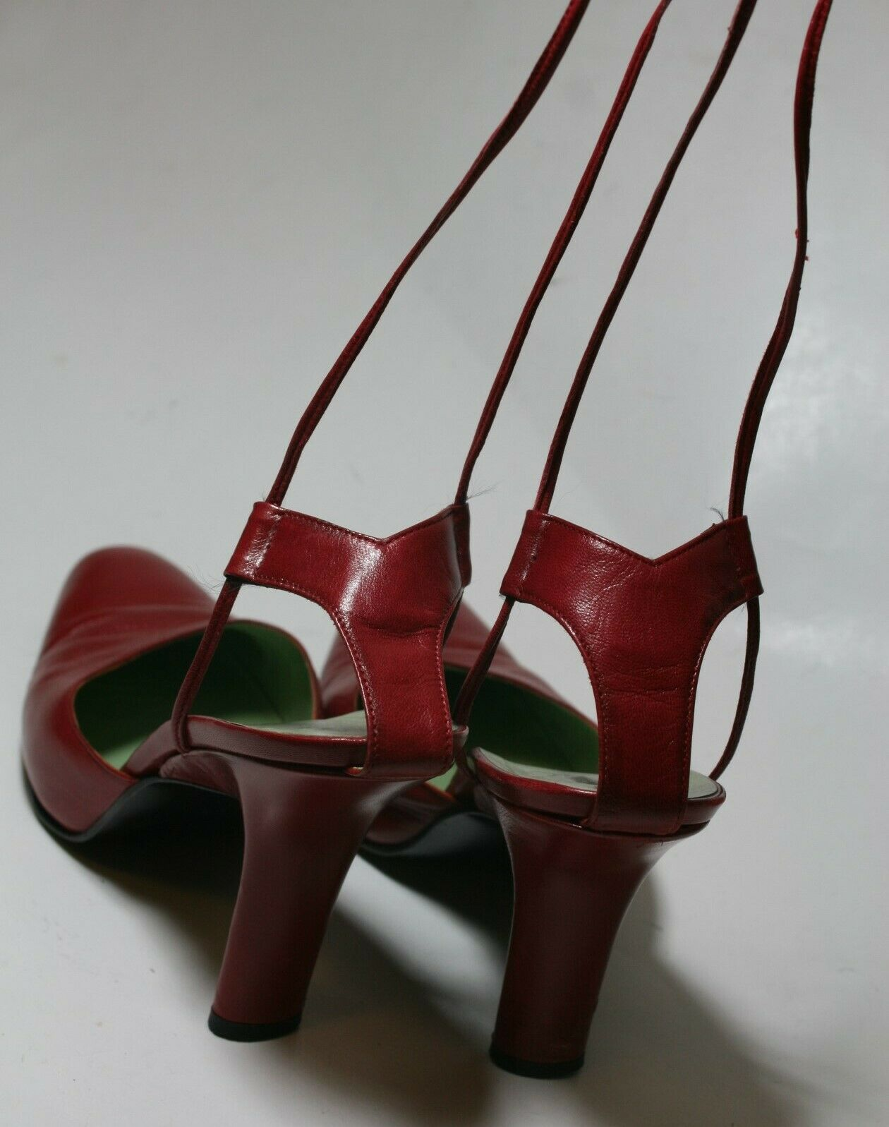 SIGERSON MORRISON SHOES RED LEATHER ANKLE WRAP PU… - image 4