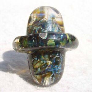 PUT-A-RING-ON-IT-Handmade-Art-Glass-Focal-Bead-Flaming-Fools-Lampwork-Art-Glass