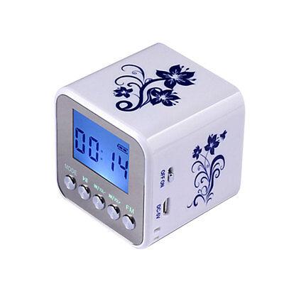 Mini Digital Fm Radio Support Sd Card Speaker Usb Mp3 Players With Clock