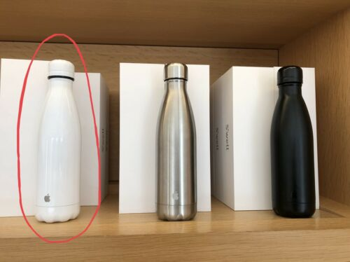 Apple Park Infinity Loop Exclusive Swell Stainless Steel Water Bottle 17oz White