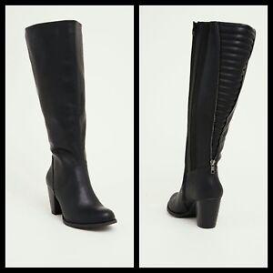 1d0b6706fc30 Torrid 10W Quilted Zip Back Heel Knee-High Boots Wide Width Wide ...