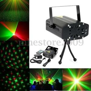 Mini LED R&G Projector Laser Stage Light Xmas DJ Disco KTV Party Lamp w/ Remote