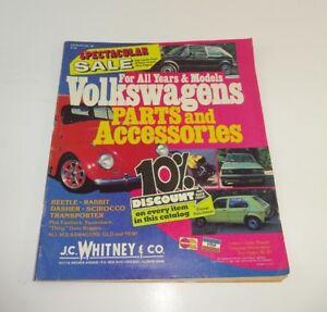 Import Car Parts >> Vintage Jc Whitney S Import Car Parts Catalog 1982 1983 Vw