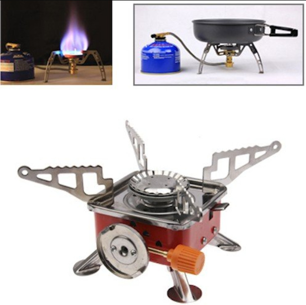 Portable Outdoor Picnic Gas Burner Portable Card Type Camping Stove